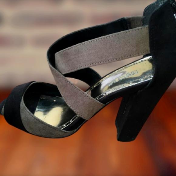 Expression X-strap block heels
